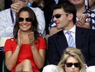 Wimbledon, Pippa con il fidanzato Alex Loudon -