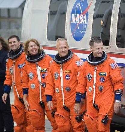 L'equipaggio dell'ultima missione dello Shuttle Atlantis -