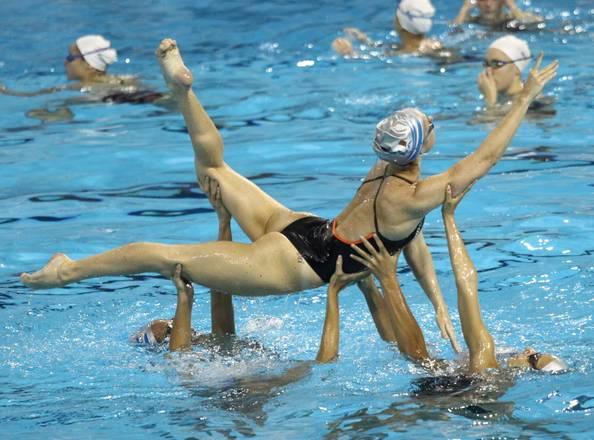 La squadra italiana di nuoto sincronizzato ai campionati mondiali di nuoto a Shangai -