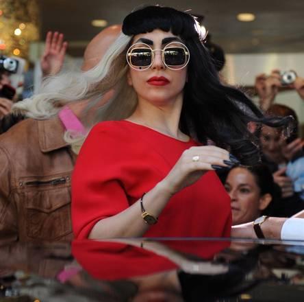 La cantante americana Lady Gaga ripresa a Sidney prima del concerto -