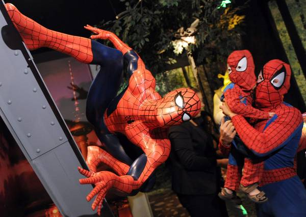 Uno Spiderman di cera al museo Madame Tussauds a Berlino -