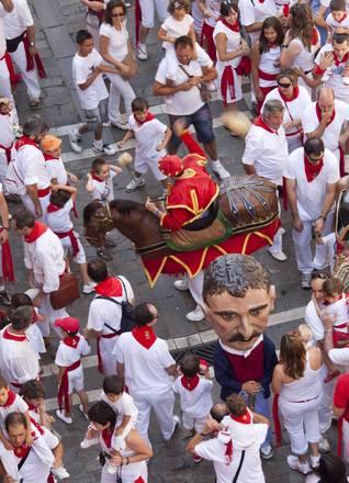 Pamplona, un momento della festa di San Firmino -