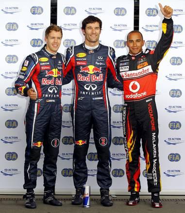 F.1,Nurburgring: Webber-Hamilton-Vettel -