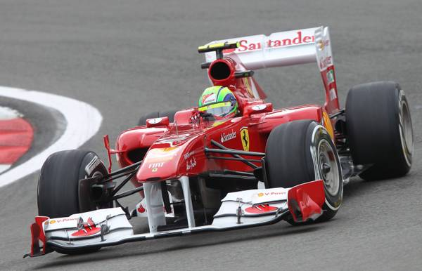 F.1 in Germania, al Nuerburgring: il ferrarista Massa -