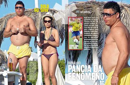 Ronaldo col pancione a Ibiza, 'Sono pensionato' -