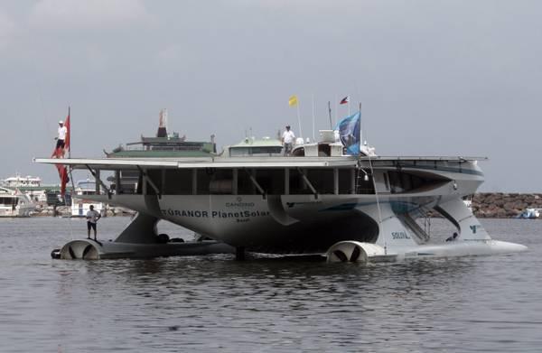 A Manila la nave a energia solare piu' grande del mondo -