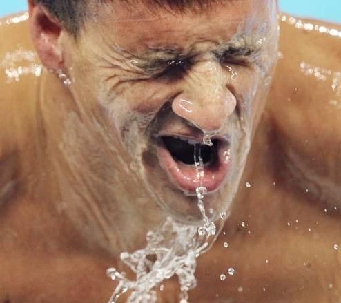 Mondiali nuoto, la smorfia dell'americano Ryan Lochte -