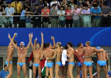 Pallanuoto: l'Italia vince l'oro -