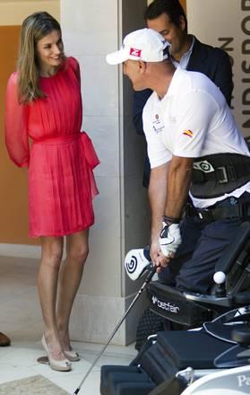 Spagna, principessa Letizia in un centro sport nelle Baleari -