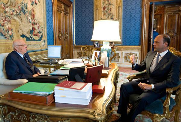 Napolitano riceve Angelino Alfano, segretario nazionale Pdl