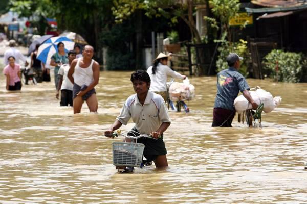 Piogge record in Myanmar, allagata la citta' di Bago -