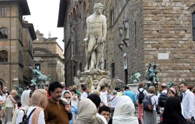 Ferragosto, Firenze piazza della Signoria