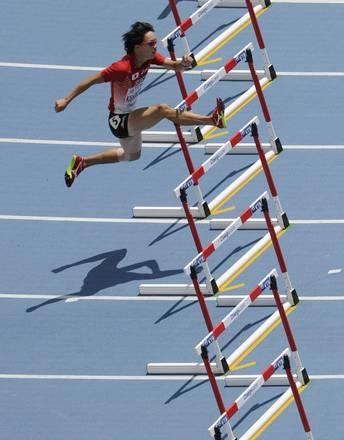 Mondiali atletica, corsa a ostacoli solitaria del giapponese -