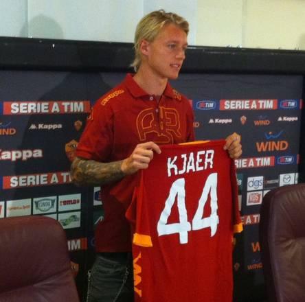 La Roma presenta Simon Kjaer, difensore danese -