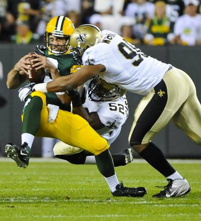 Football, New Orleans Saints contro Green Bay Packers -