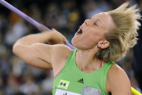 A Zurigo grandi atletica, giavellottista tedesca Oberfoell -