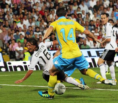 Cesena-Napoli: Hugo Campagnaro riporta in vantaggio il Napoli -