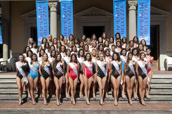 Miss Italia, il gruppo delle finaliste -