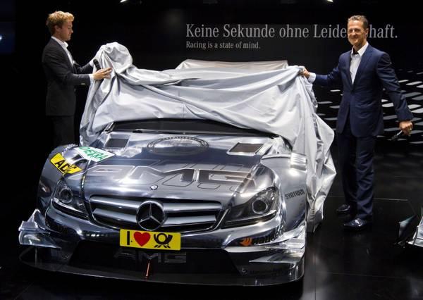 Francoforte, Schumi e Rosberg a presentazione nuova Mercedes -