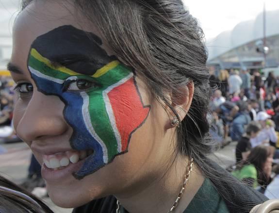 Mondiali di rugby in Nuova Zelanda, una tifosa del Sudafrica