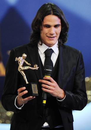 Attaccante del Napoli Cavani, il piu' amato del calcio -