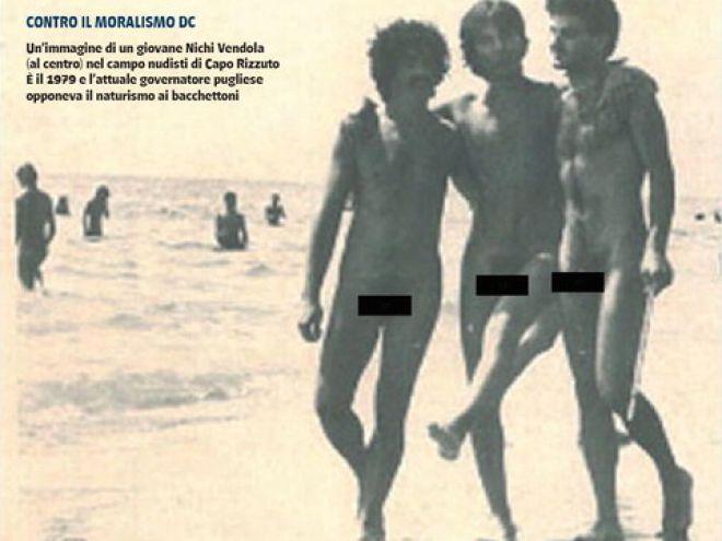 Vendola nudo, e poi critica Berlusconi, merita una risata?