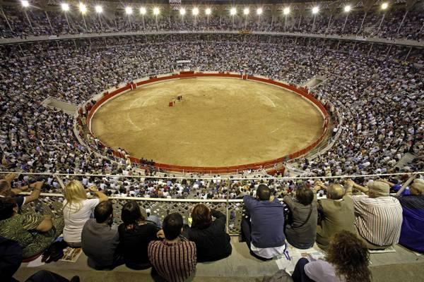 L'arena dell'ultima corrida catalana stasera a Barcellona -