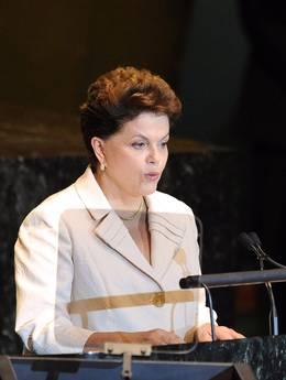 Il presidente del Brasile Dilma Rousseff all'Onu -
