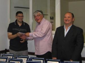 Dott.re Ricci con l'attore Tommaso Scarpato