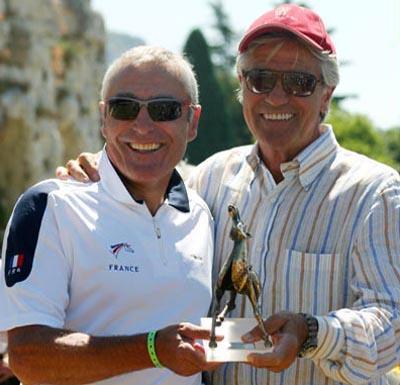 Francese Jack Begaud  con Nino Benvenuti, ex campione Mondiale di Pugilato -