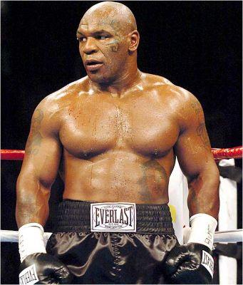 L'ex campione di boxe dei pesi massimi, il leggendario Mike Tyson -