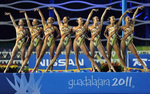 Le americane del nuoto sincronizzato ai giochi di Guadalajara
