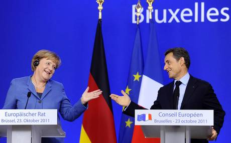 Merkel e Sarkozy -