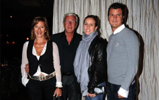 Il ct azzurro Lippi con la moglie Simonetta e i figli Stefania e Davide