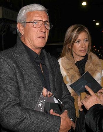 Il ct azzurro Lippi con la moglie Simonetta