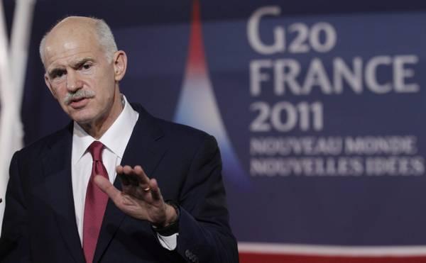 G20, il premier greco Papandreou prima del summit