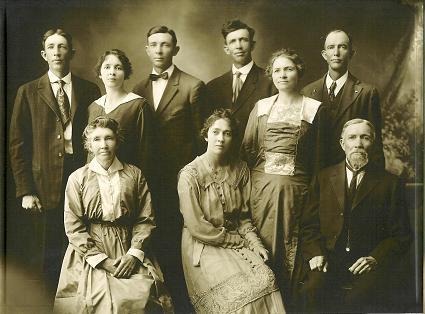 Joseph Smith fondatore dei Mormoni - J. U. Stucki Famiglia - 1917 circa