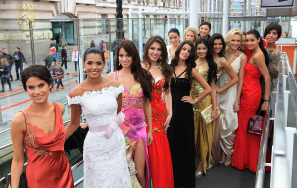 Londra: Finaliste di Miss Mondo 2011
