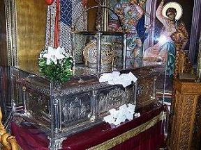 Reliquie di San Demetrio di Tessalonica, ubicate nella chiesa greco-ortodossa di San Demetrio