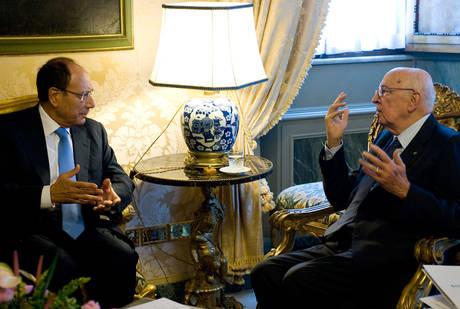 Schifani a colloquio con Napolitano