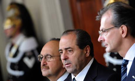 Di Pietro dopo la consultazione con Napolitano