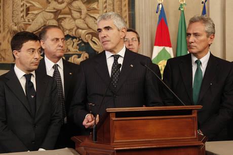 Bocchino, Cesa, Casini e Rutelli al Quirinale