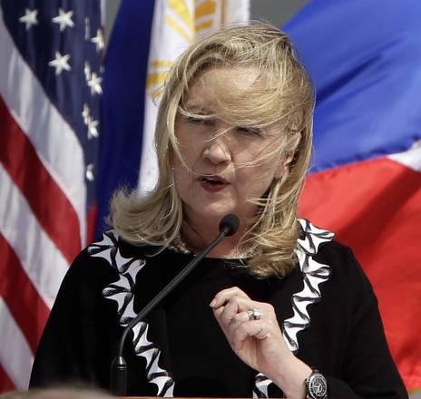Hillary Clinton a Manila per 60 anni cooperazione militare