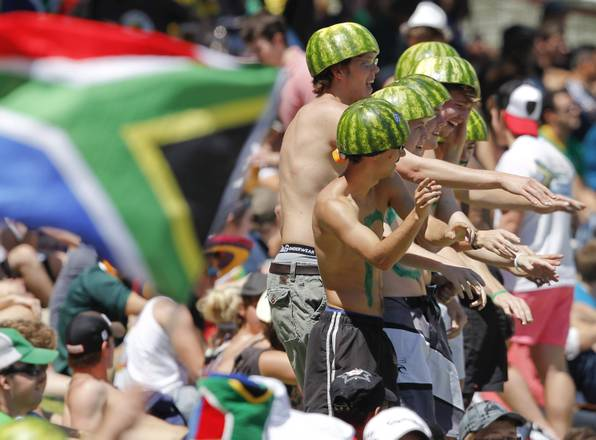 Cricket a Citta' del Capo, esultano tifosi sudafricani