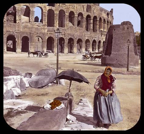 Foto a colori l'Italia dal 1861 al 1935 - ROMA IL COLOSSEO