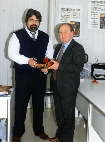 L'editore di D.N. Giuseppe Piccolo con il direttore dott. Stefano  Amendola