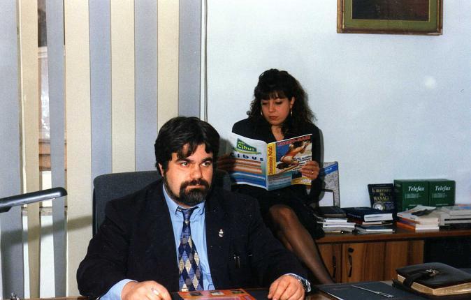 Redazione di Dimensione Notizia l'editore Giuseppe Piccolo