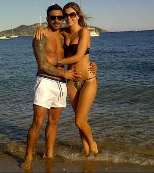 Lavezzi con la fidanzata Yanina
