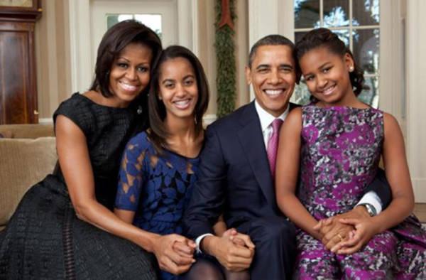 Foto di famiglia per il presidente americano Obama -