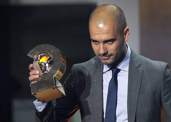 Pep Guardiola, ha vinto il Pallone d'Oro 2011 come miglior allenatore